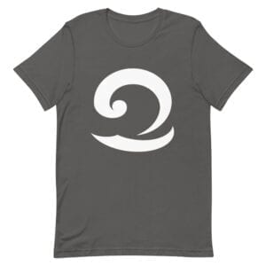 Eatsalt dark grey t-shirt with white wave logo