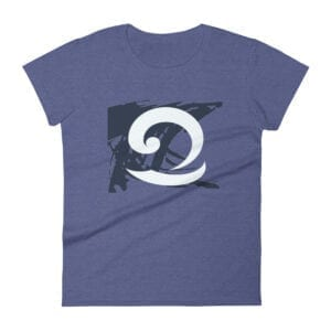 Eatsalt purple t-shirt with eat salt wave design