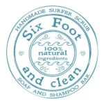 Six Foot and Clean Logo - square - blue - 600x600px