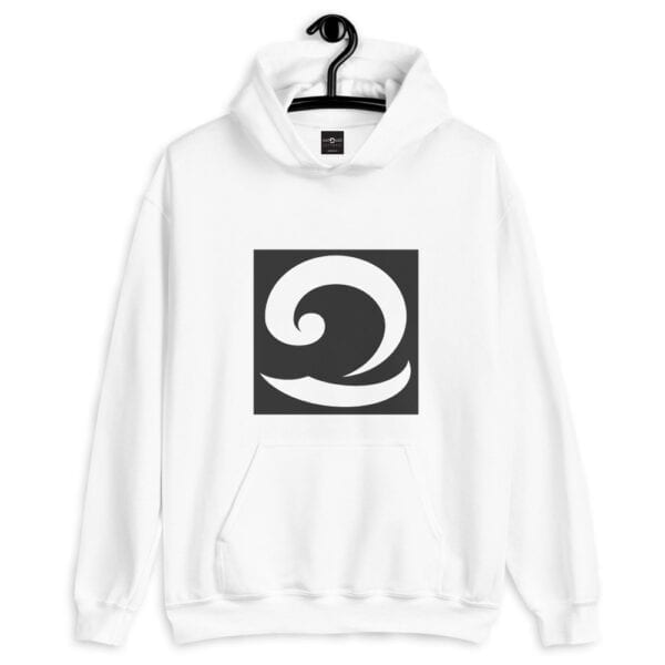 Classic White Hoodie with Eatsalt Wave in Black and White