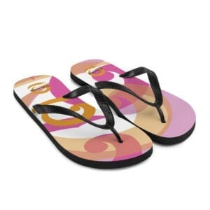 Eatsalt flip-flops - orange, pink, white