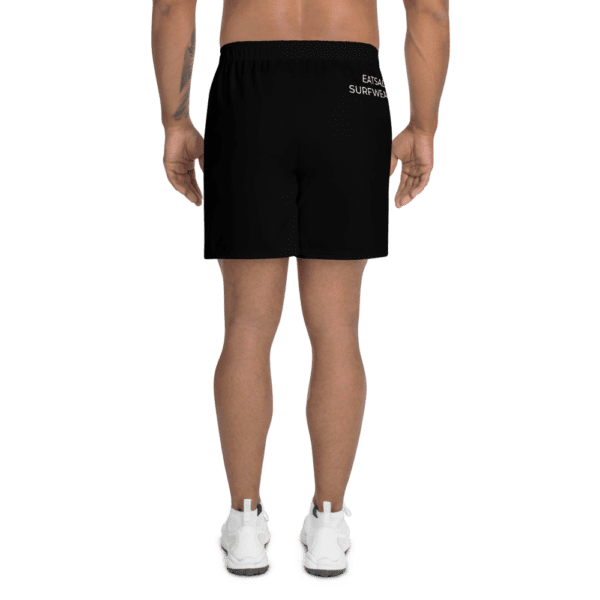 Eatsalt Surfwear black athletic shorts (back)
