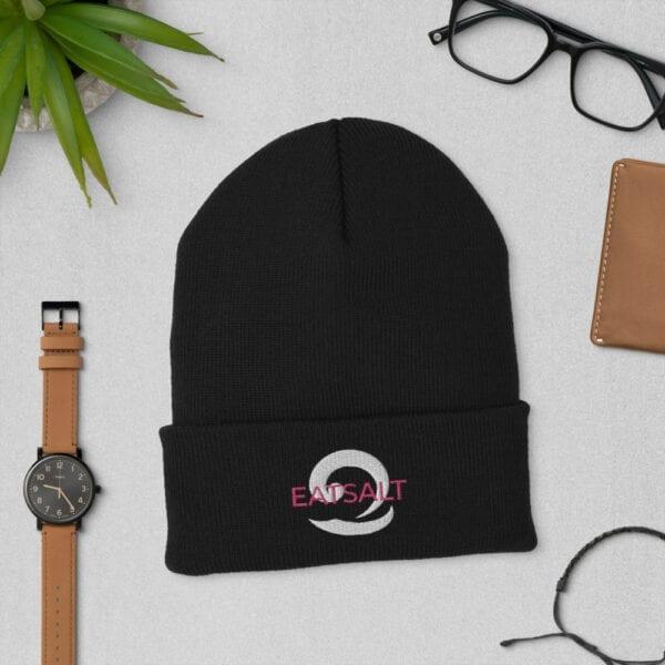 Black Beanie hats at Eatsalt.com