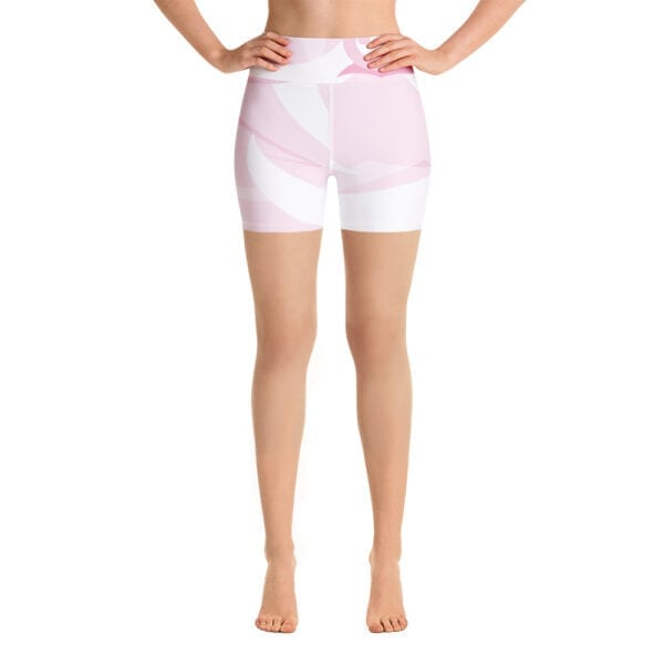 Eatsalt Surfwear's Pink and White Yoga Shorts
