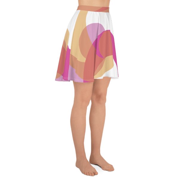 Eatsalt pink and orange on white swirl design Beach Skirt