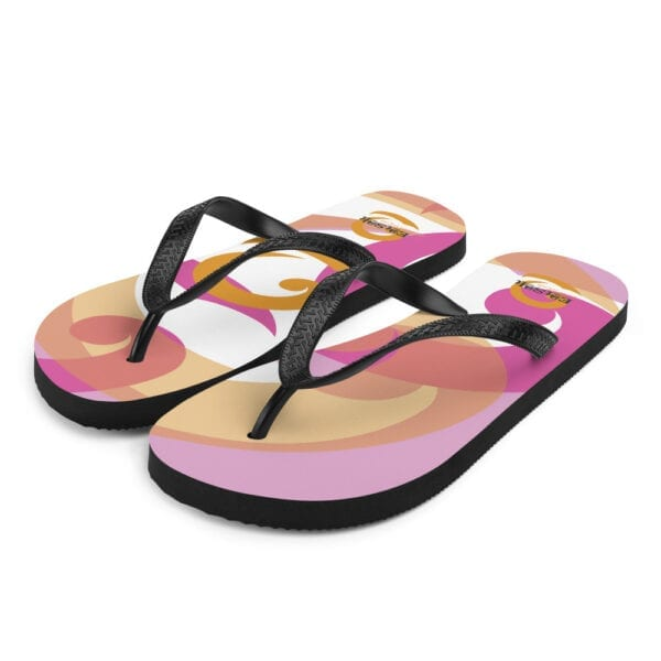 Eatsalt flip-flops - pink, orange and white design