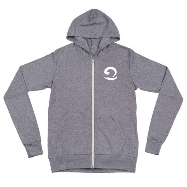 Grey Eatsalt zip hoodie