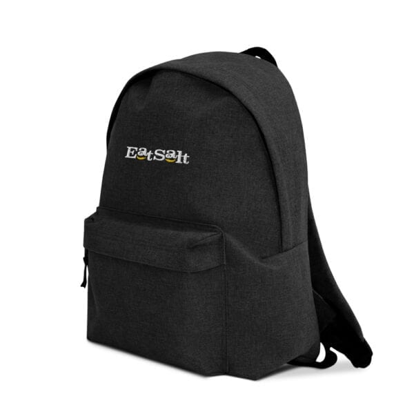 Eatsalt backpack in charcoal - side