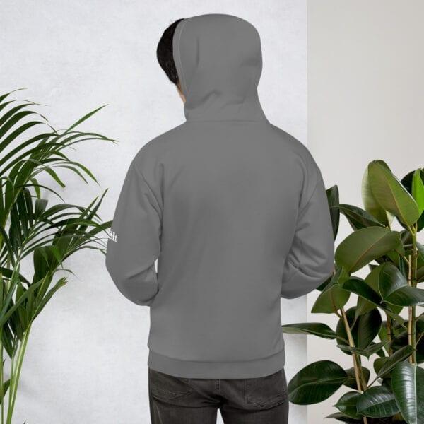 Men's grey surfing beach hoodie by Eatsalt