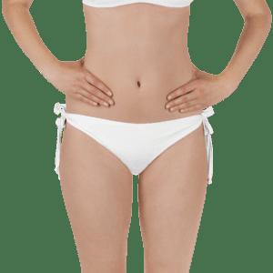 White bikini bottom by Eatsalt - front