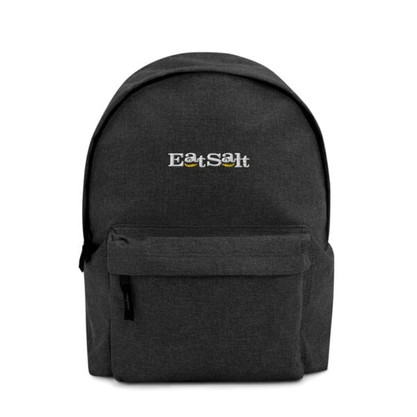 Eatsalt backpack in charcoal - front