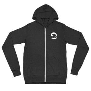 Charcoal Eatsalt zip hoodie
