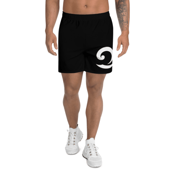 Eatsalt Surfwear black athletic shorts (front)