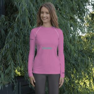 Pink Surfer's Rashvest for Women by Eatsalt