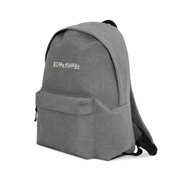 Eatsalt backpack in grey - side