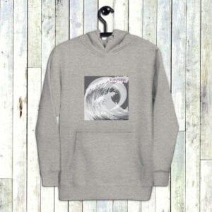 Premium Grey Eatsalt Surfwear Hoodie