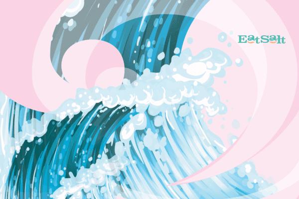 Large Eatsalt beach towel design