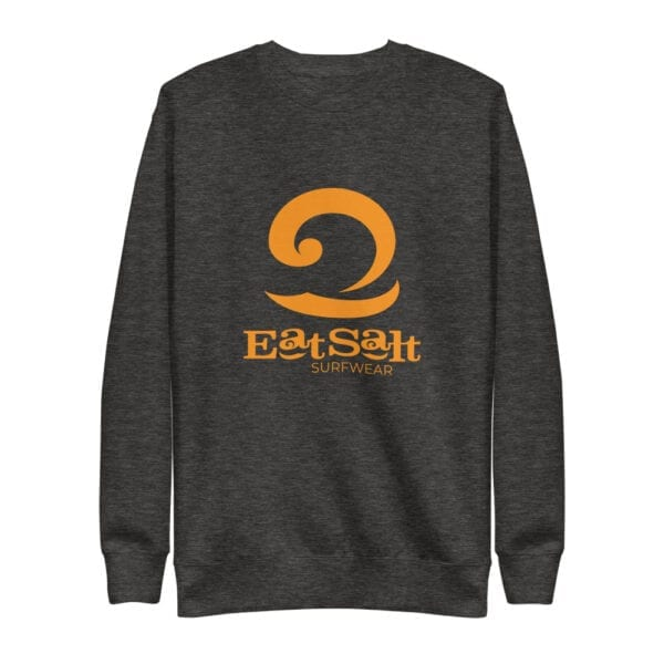 Eatsalt Fleece-lined Pullover - orange on charcoal