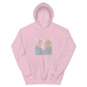 Pink Hoodie by Eatsalt Surfwear with Hawaii Hibiscus Flower Design