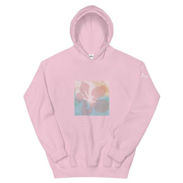 Pink Hoodie by Eatsalt Surfwear with Hawaii Hibiscus Flower Design