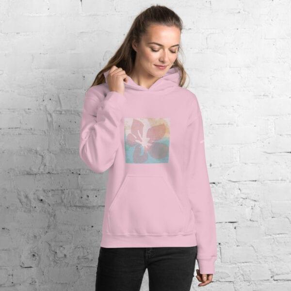 Eatsalt Pink Hoodie with Flower model