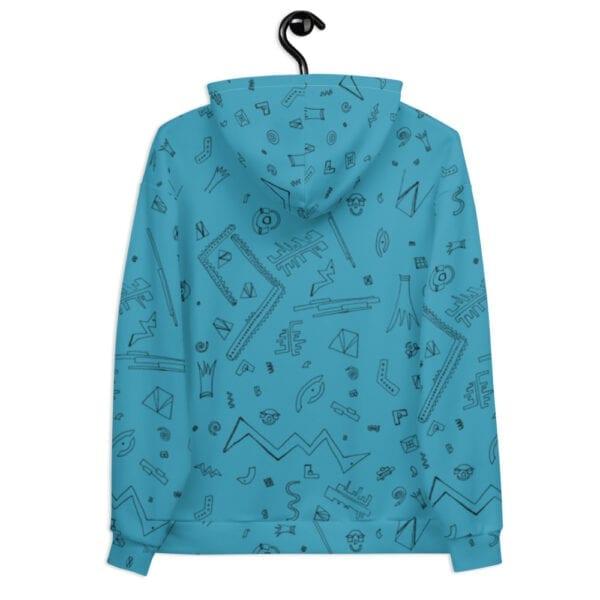 light blue patterned hoodie