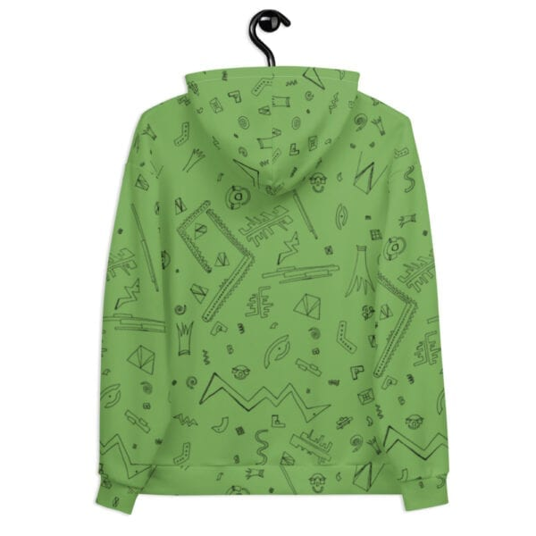 light green patterned hoodie