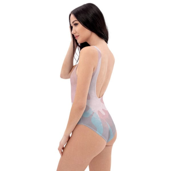 wave splash pink swimsuit - side