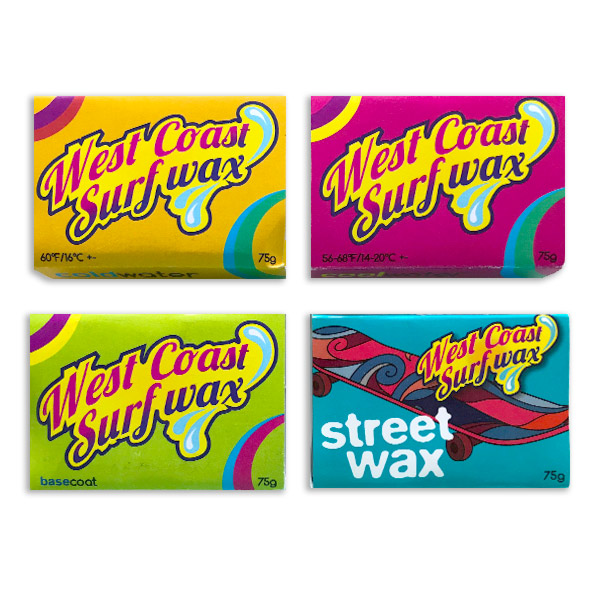West Coast Surf Wax range available at eatsalt.com