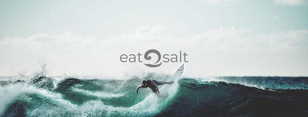 Eatsalt Surfwear & Surf Gear surfer logo banner
