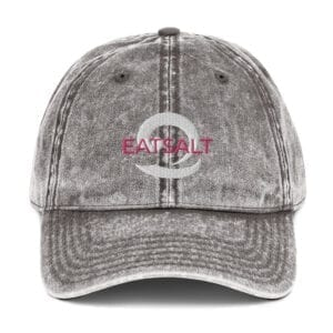 Vintage washed-out charcoal grey women's cap by Eatsalt