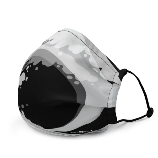 Black and white wave face mask by eatsalt