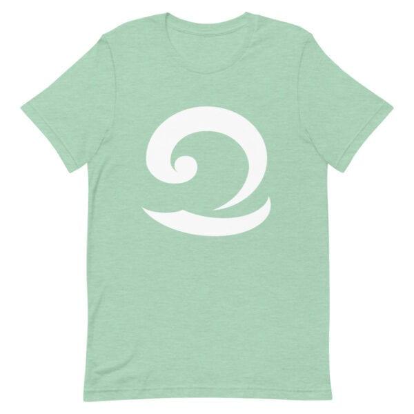 Eatsalt sea green t-shirt with white wave logo