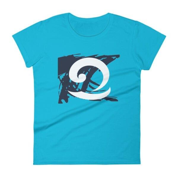 Eatsalt blue t-shirt with eat salt wave design