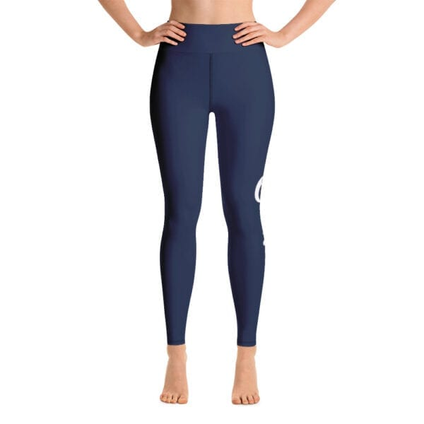 Eatsalt yoga leggings, navy blue - front