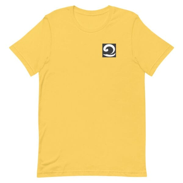 Unisex T-Shirt yellow with black and white wave icon