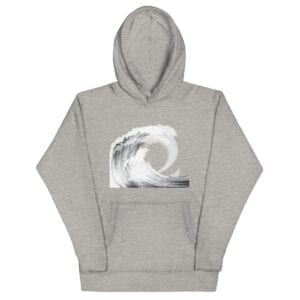 grey eat salt wave hoodie