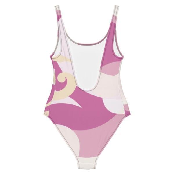 Eatsalt wave design sea or pool one-piece swimsuit - back