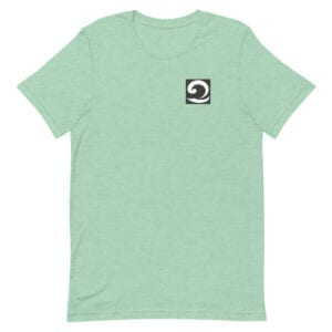 Unisex T-Shirt mint green with black and white wave icon