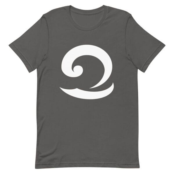 Eatsalt charcoal t-shirt with white wave logo