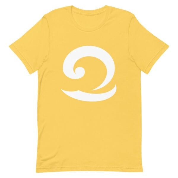 Eatsalt beach yellow t-shirt with white wave logo