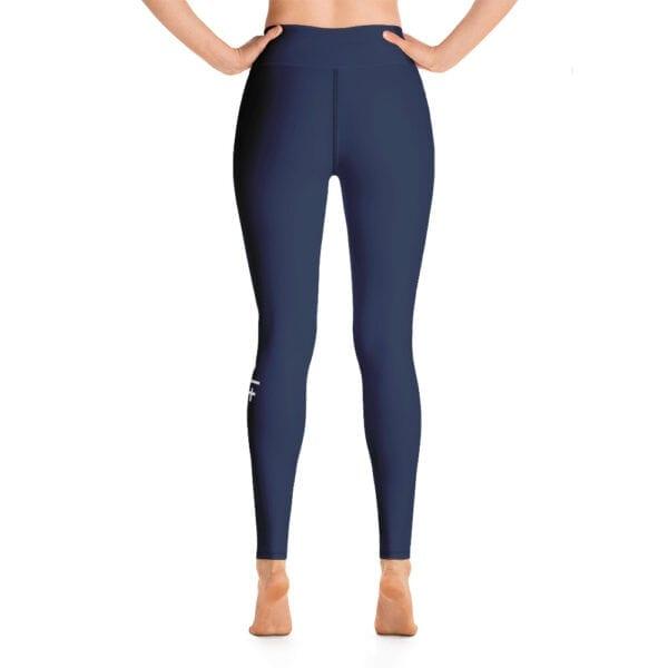 Eatsalt yoga leggings, navy blue - back