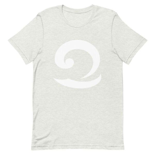 Eatsalt light grey t-shirt with white wave logo