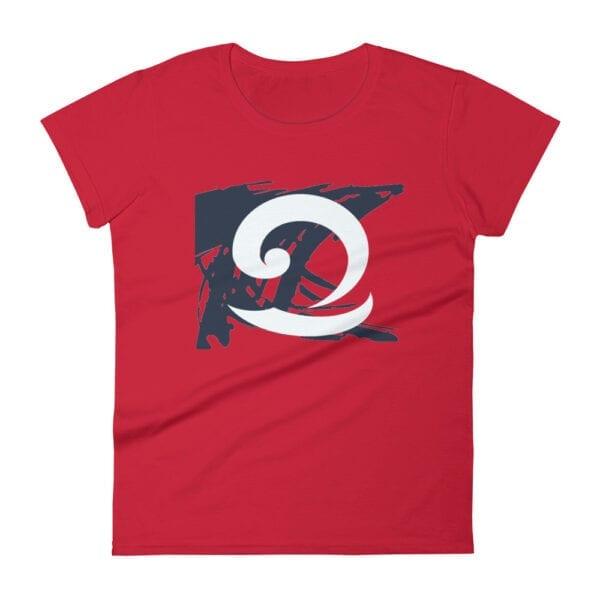 Eatsalt red t-shirt with eat salt wave design
