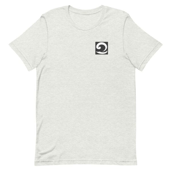 Unisex T-Shirt ash with black and white wave icon