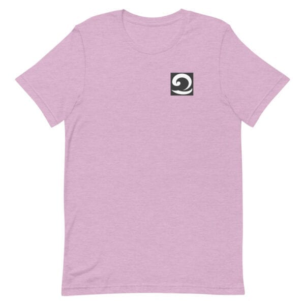 Unisex T-Shirt pink with black and white wave icon
