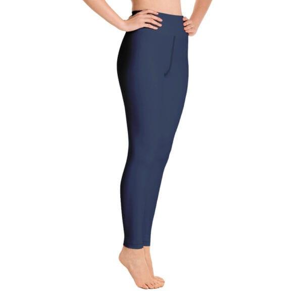 Eatsalt yoga leggings, navy blue - side view