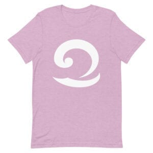 Eatsalt pastel pink colour t-shirt with white wave logo