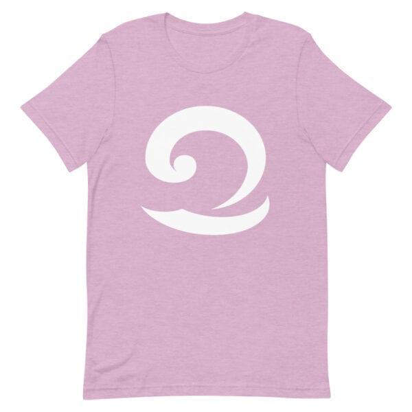 Eatsalt pastel pink colour t-shirt with white wave logo