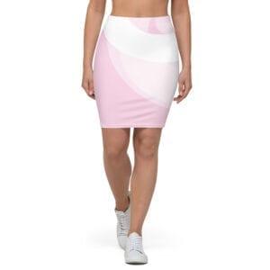 Eatsalt Pink Pencil Skirt - front
